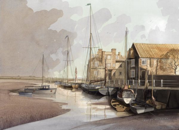 Blakeney Harbour by Simon Dolby at The Dolby Gallery Oundle