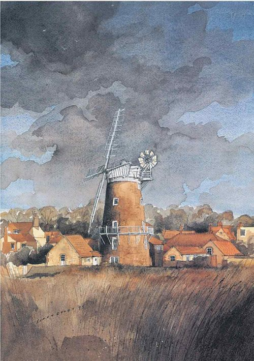 Cley Mill, Norfolk by Simon Dolby at The Dolby Gallery Oundle