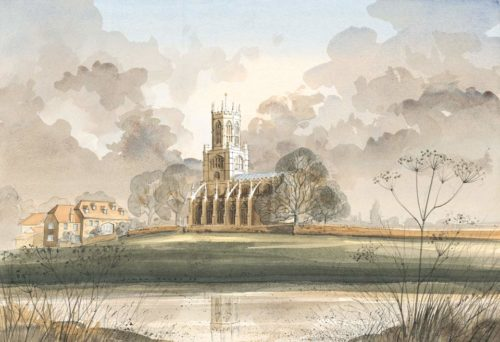 Fotheringhay Church, Nr Oundle, Northamptonshire by Simon Dolby at The Dolby Gallery Oundle