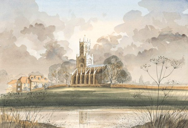 Fotheringhay Church, Nr Oundle, Northamptonshire by Simon Dolby at The Dolby Gallery
