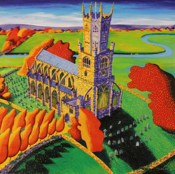 Fotheringhay Church by Mikki Longley at The Dolby Gallery Oundle