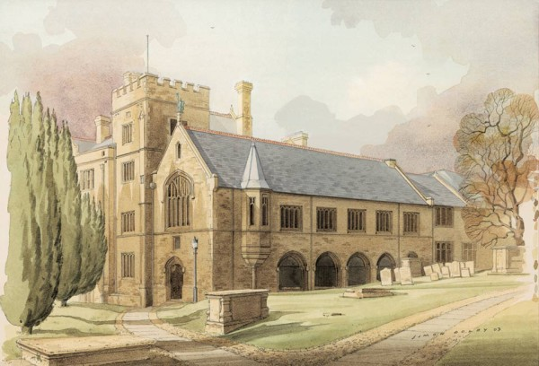 Laxton School, Oundle by Simon Dolby at The Dolby Gallery Oundle