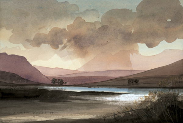 Loch Droma Scotland Watercolour by Simon Dolby at The Dolby Gallery Oundle