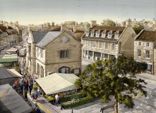 Market Day Oundle at The Dolby Gallery by Simon Dolby