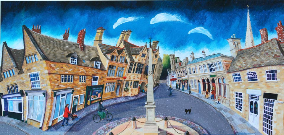 Oundle Post Office, New Street Oundle by Mikki Longley at The DolbyGallery Oundle