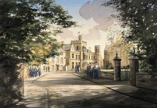 New Street, Oundle School by Simon Dolby at The Dolby Gallery