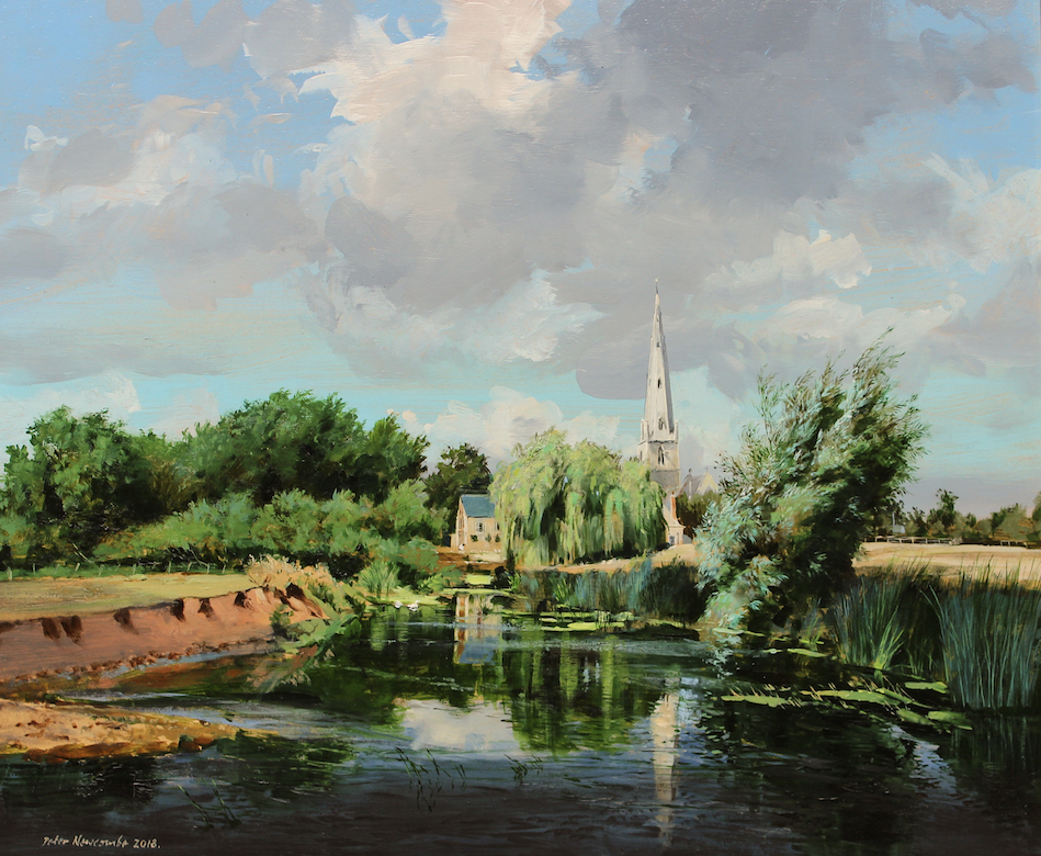 Olney by Peter Newcombe at The Dolby Gallery Northamptonshire