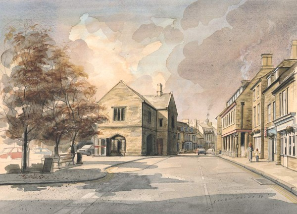Oundle Market Place by Simon Dolby at The Dolby Gallery Oundle