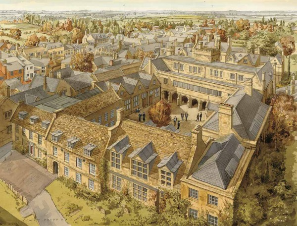 Oundle School Cloisters by Simon Dolby at The Dolby Gallery