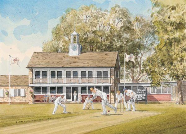 Close Field, Oundle School cricket match, by Simon Dolby at The Dolby Gallery