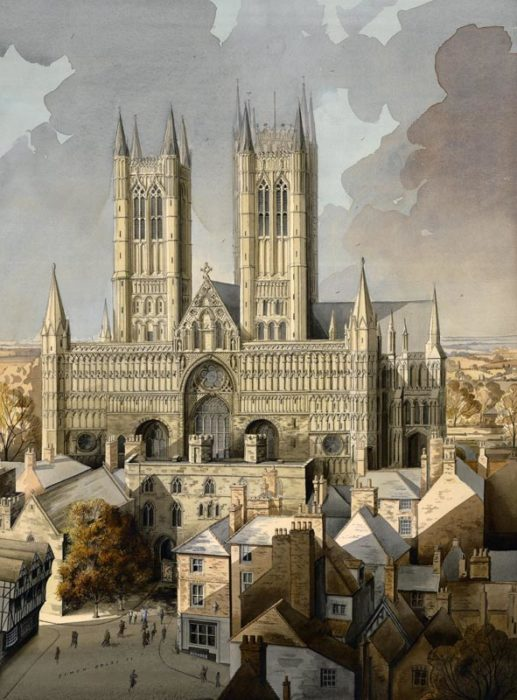 West Front Lincoln Cathedral at The Dolby Gallery