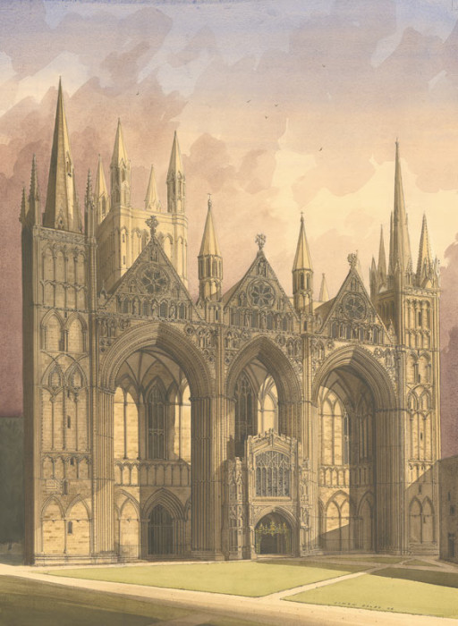West Front, Peterborough Cathedral by Simon Dolby at The Dolby Gallery Oundle