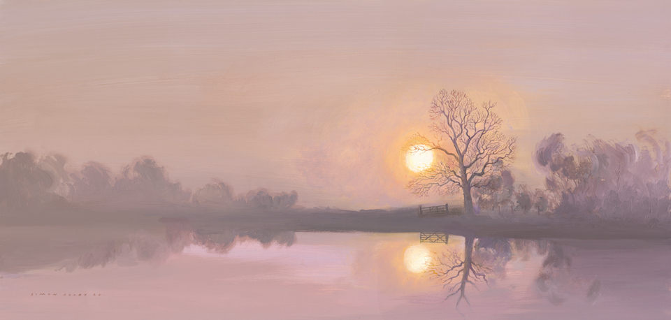 Nene River at Oundle, Northamptonshire 2020 by Simon Dolby at The Dolby Gallery