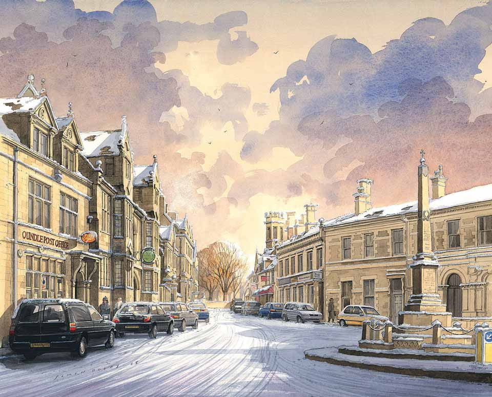 Oundle In the Snow at The Dolby Gallery Oundle Northamptonshire