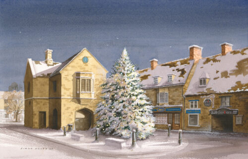 Snowy Oundle 2020 by Simon Dolby at The Dolby Gallery, Oundle, Northamptonshire, England