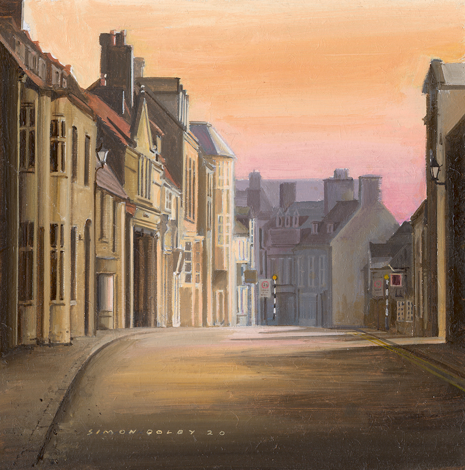 Sunrise West Street Oundle Northamptonshire England 2020 by Simon Dolby at The Dolby Gallery
