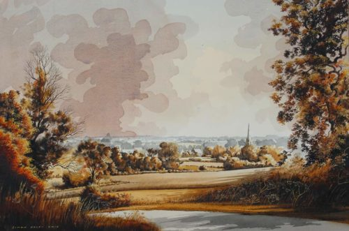 Towards Nassington by Simon Dolby at The Dolby Gallery Oundle