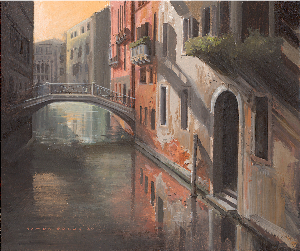Venice Backwater 2020 by Simon Dolby at The Dolby Gallery, Oundle, Northamptonshire, England