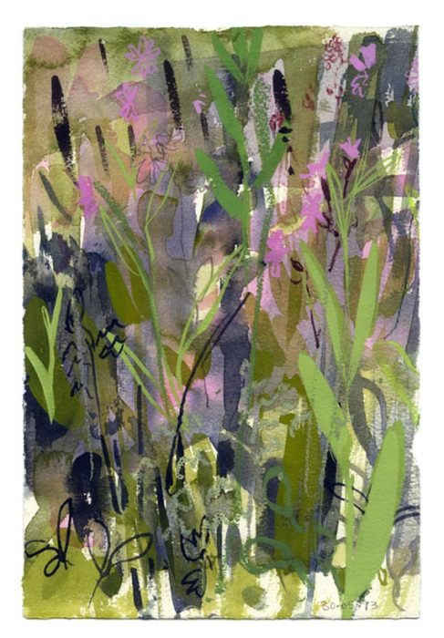 Spring meadow 1. 30.05.13 – 190mm x 280mm – Watercolour – £490 at The Dolby Gallery Oundle