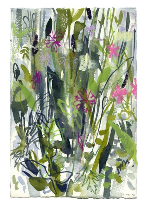 Spring meadow 2. 30.05.13 – 190mm x 280mm – Watercolour – £490 at The Dolby Gallery Oundle