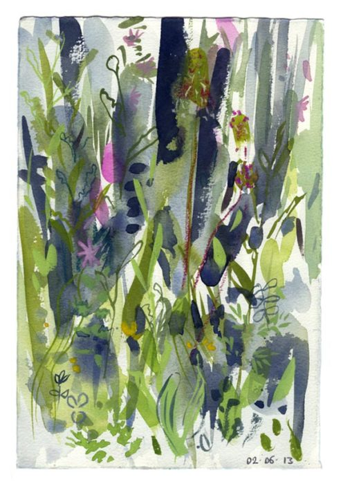 Spring meadow 3. 30.05.13 – 190mm x 280mm – Watercolour – £490 at The Dolby Gallery Oundle