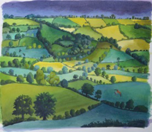 Across the Valley by Carry Akroyd at The Dolby Gallery Oundle