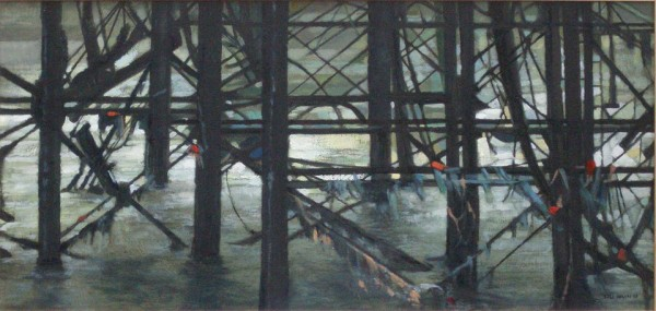 Under the Pier Brighton by Gill Levin at The Dolby Gallery Oundle