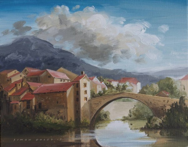 Pont-De-Montford, South West France by Simon Dolby at The Dolby Gallery, Oundle