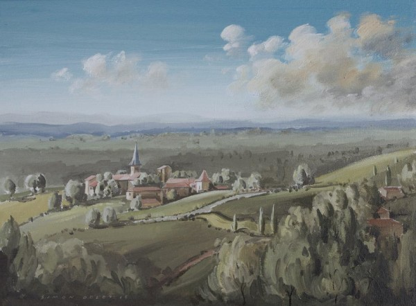 Towards Campagnac, South West France by Simon Dolby at The Dolby Gallery Oundle
