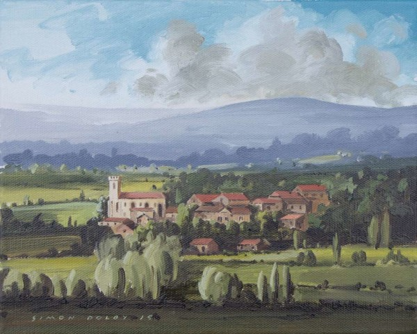 TowardsLe Verdier, South West France by Simon Dolby at The Dolby Gallery