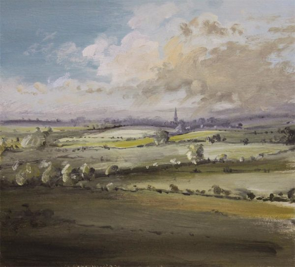 Towards Oundle Northamptonshire by Simon Dolby at The Dolby Gallery