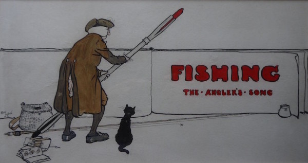 Cecil Aldin Fishing at The Dolby Gallery Oundle Northamptonshire