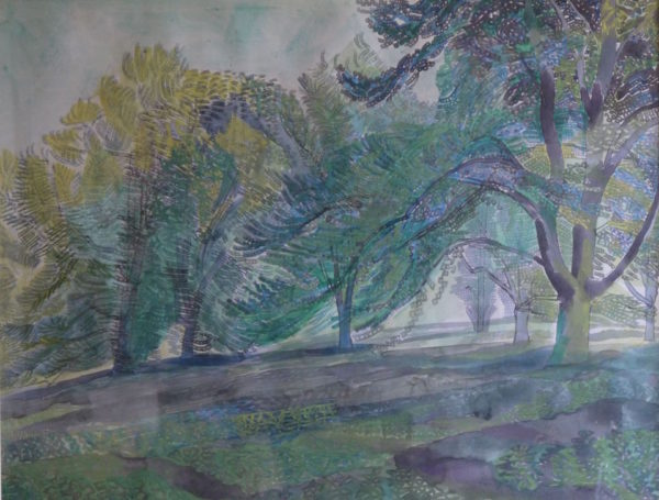 Edward Bawden RA (1903-1989) Audley End Trees, watercolour, signed at The Dolby Gallery, Oundle, Northamptonshire