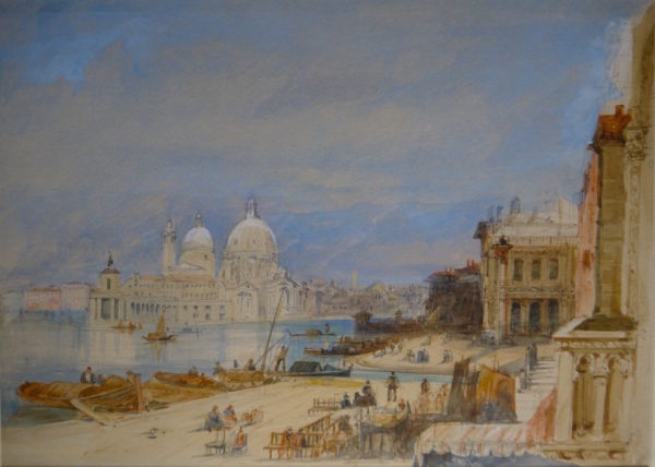 Edward Pritchett (Fl. 1828-1864) Venice, watercolour 10ins x 14ins at The Dolby Gallery Oundle Northamptonshire