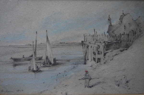 Henry Bright (1814-1873) Thornham 1826, crayon and Pencil 7ins x 10 ½ at The DolbyGallery Oundle Northamptonshire