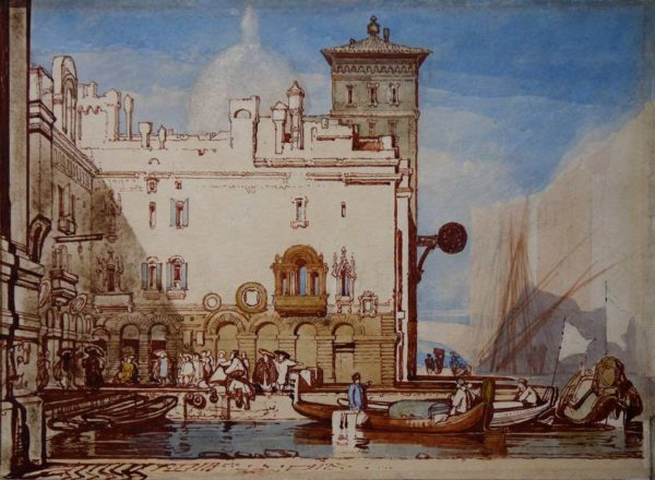 John Sell Cotman Venetian View at The Dolby Gallery Oundle, Northamptonshire