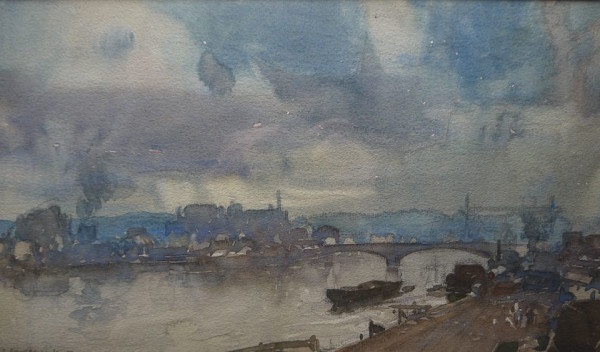 Leonard Russell Squirrell RE, RI (1893-1979) Rouen , watercolour signed 7 1/2ins x 12 ¾ins at The Dolby Gallery Oundle Northamptonshire