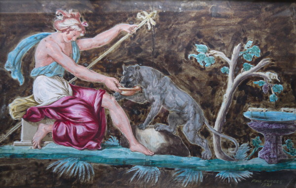Paul Forbes (20th Cent. British) Diana the Huntress, signed and dated 1921,gouache 14ins x 22ins at The Dolby Gallery Oundle Northamptonshire