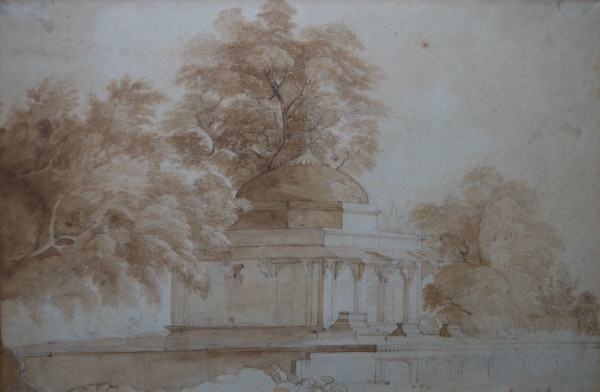 William Daniel RA (1769-1837) Moghul Tomb, Juanpore, India Signed with initials 8ins x 11 ½ ins at The Dolby Gallery Oundle Northamptonshire