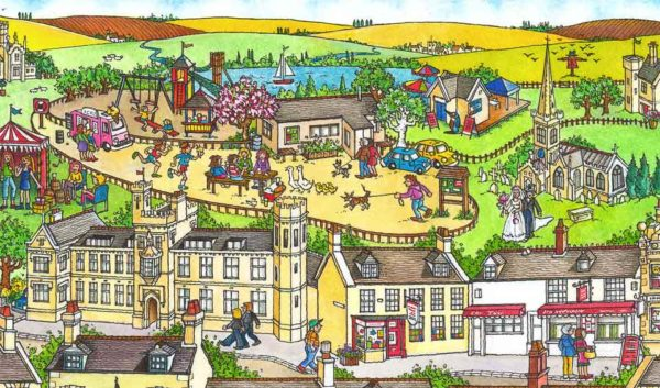 Detail section showing Barnwell Country Park etc.