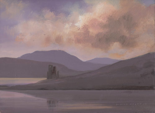 Ardvreck Castle, Loch Assent, Wester Ross, Scotland at The DolbyGallery, Oundle, Northamptonshire