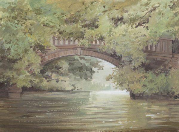 Lilford Bridge on the River Nene Northamptonshire at The Dolby Gallery Oundle Northamptonshire