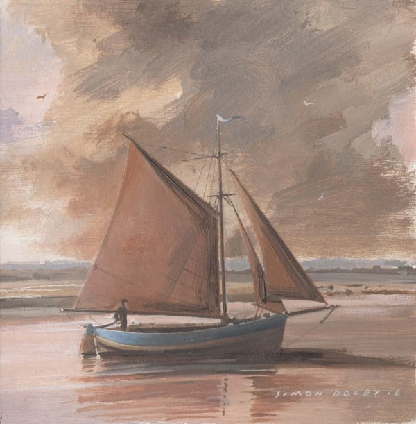 Setting Sail, Thornham, Norfolk at The Dolby Gallery, Oundle, Northamptonshire