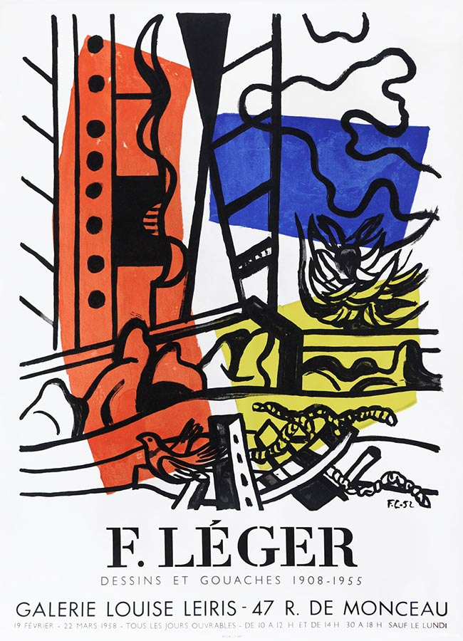Fernand Leger Original Exhibition Poster