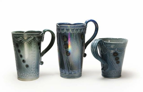 Margaret Gardiner Mugs, Contemporary Ceramics, East Anglia, The Dolby Gallery