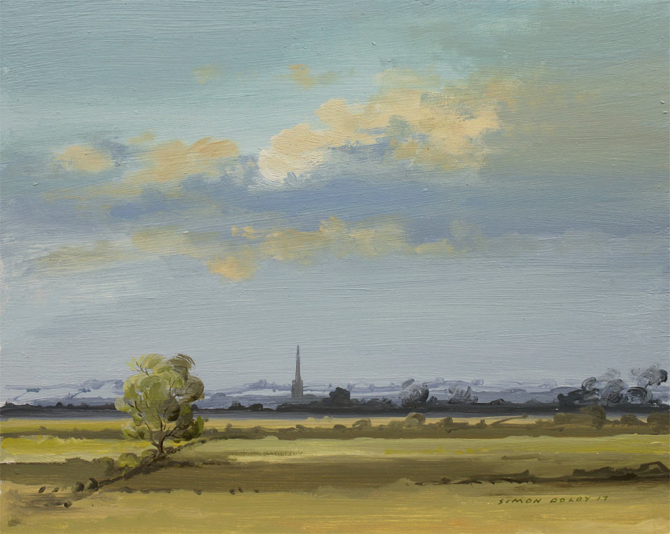 Towards Oundle From Ashton Northamptonshire 2017 by Simon Dolby at The Dolby Gallery